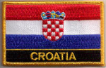 Croatia Embroidered Flag Patch, style 09.